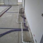Foto 1 plaatsing van centraal stofzuigsysteem Electrolux
